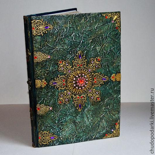 Кулинарные книги ручной работы. Ярмарка Мастеров - ручная работа. Купить Книга хозяйки большая. Handmade. Морская волна