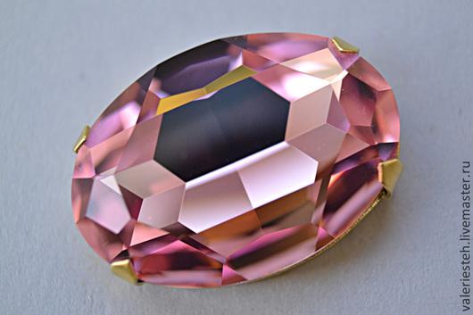 Для украшений ручной работы. Ярмарка Мастеров - ручная работа. Купить Крупный кристалл Swarovski 30х22 мм Light Rose. Handmade.