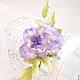 """Броши ручной работы. Роза """"Profumo di lilla"""". Натуральный шелк.. 'Poli-Flower'   (Надежда). Ярмарка Мастеров. Роза брошь"""