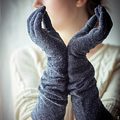 Аксессуары ручной работы. Ярмарка Мастеров - ручная работа Перчатки длинные войлок. Handmade.