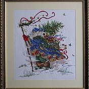"""Картины и панно ручной работы. Ярмарка Мастеров - ручная работа Вышитая картина """"Санта Клаус"""". Handmade."""
