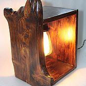 Для дома и интерьера ручной работы. Ярмарка Мастеров - ручная работа настольная деревянная лампа из слэба. Handmade.