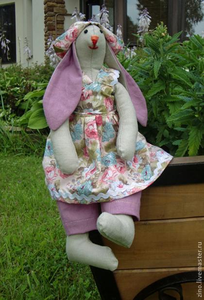 Куклы Тильды ручной работы. Ярмарка Мастеров - ручная работа. Купить Крольчиха Элиза. Handmade. Розовый, игрушка ручной работы