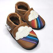 Одежда детская handmade. Livemaster - original item Rainbow, Kids Shoes, Brown Baby Shoes, Baby Moccassins. Handmade.
