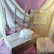Свадебный салон ручной работы. Ярмарка Мастеров - ручная работа Набор свадебных аксессуаров. Handmade.