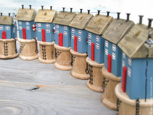 Рыбацкий домик - органайзер для ножниц