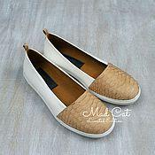 Обувь ручной работы handmade. Livemaster - original item Loafers made of genuine leather and Python skin. Handmade.