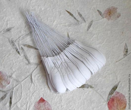 Лепестки белые закругленные большие My Thai Материалы для флористики из Таиланда
