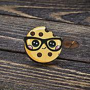 Украшения handmade. Livemaster - original item Wood badge Cookies. Handmade.