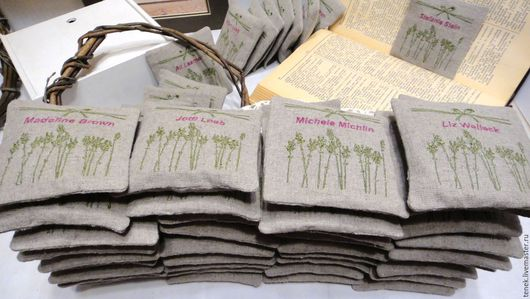 Текстиль, ковры ручной работы. Ярмарка Мастеров - ручная работа. Купить Саше лаванда прованс 50 шт Набор свадебные подарки гостям Персональные. Handmade.