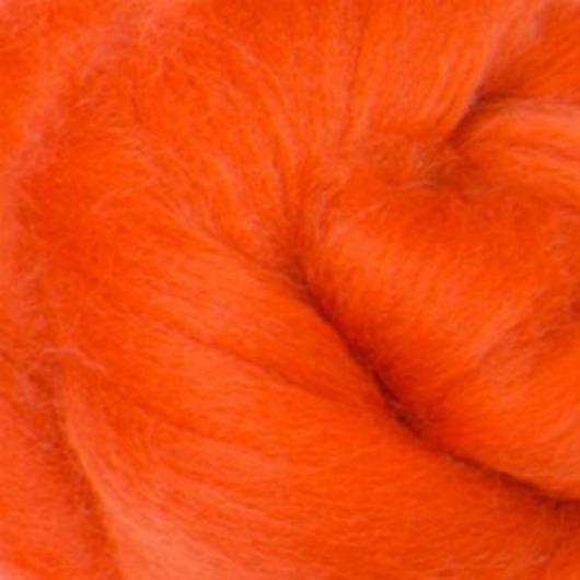 Валяние ручной работы. Ярмарка Мастеров - ручная работа. Купить Меринос 16 мк окрашенный - цвет Календула. Handmade.