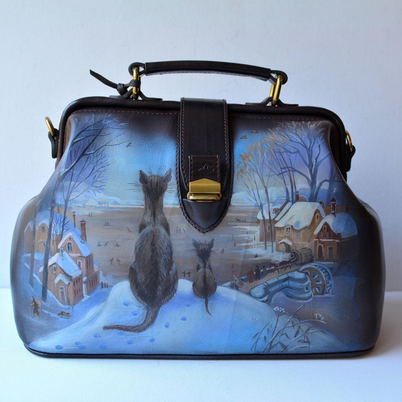 3cd68dd2259f Женские сумки ручной работы. Ярмарка Мастеров - ручная работа. Купить ' Питерские коты'