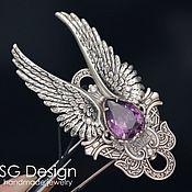 Украшения handmade. Livemaster - original item ring, silver angel amethyst. Handmade.