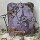 """Блокноты ручной работы. Ярмарка Мастеров - ручная работа. Купить Книга Теней """" Гингема"""". Handmade. Фиолетовый, арт-бук"""
