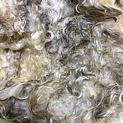 Материалы для творчества handmade. Livemaster - original item Fleece of Lincoln`s first year. white. New Zealand. 50 grams.. Handmade.