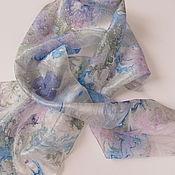 Shawls handmade. Livemaster - original item Surf. Natural silk. Painting. Handmade.
