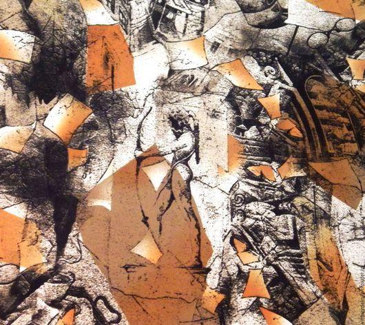 Шитье ручной работы. Ярмарка Мастеров - ручная работа. Купить Диана (Артемида) богиня охоты и руины Древней Греции - трикотаж. Handmade.