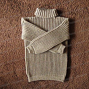 Одежда handmade. Livemaster - original item Sweater fleece with a collar, brown (No. №2). Handmade.