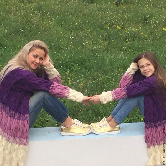 Кофты и свитера ручной работы. Ярмарка Мастеров - ручная работа. Купить Лало кардиган для мамы и дочки. Handmade. Лало кардиган