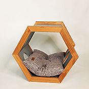 Зоотовары handmade. Livemaster - original item Bed Dog House Industrial Eco Progect Wood Gray. Handmade.