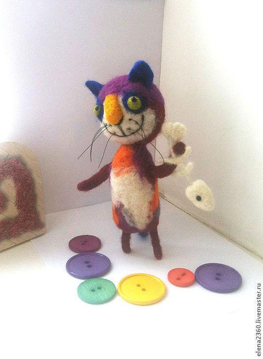Игрушки животные, ручной работы. Ярмарка Мастеров - ручная работа. Купить Сказки Цветного Кота. Handmade. Кот