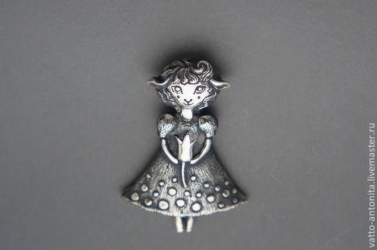 Кулоны, подвески ручной работы. Ярмарка Мастеров - ручная работа. Купить кулон из серебра Люси. Handmade. Кулон из серебра