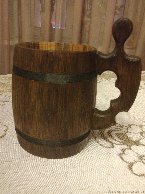 Кружка для пива дубовая, Кружки и чашки, Санкт-Петербург,  Фото №1