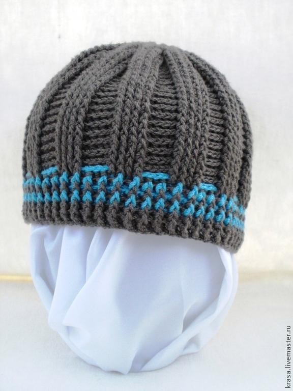 вязаная подростковая шапка, Шапки и шарфы, Армавир, Фото №1