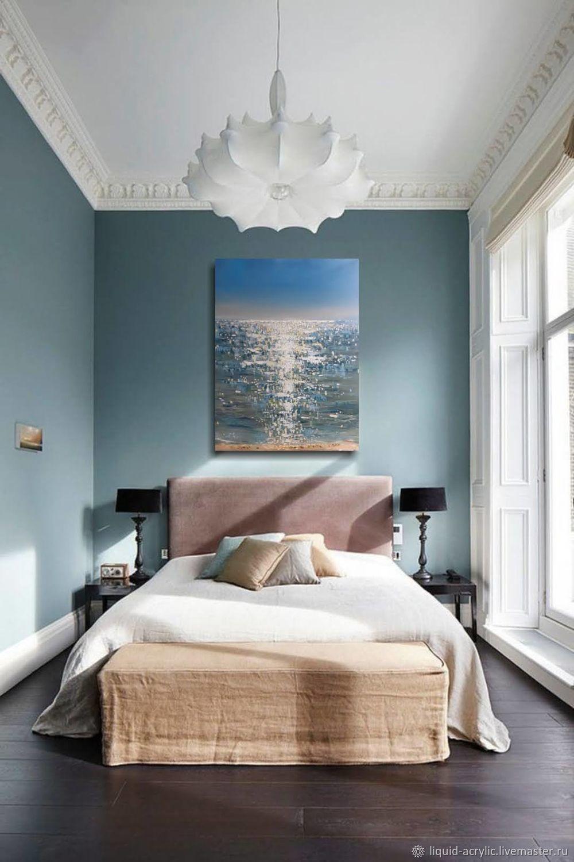 Абстрактный морской пейзаж, картина с объемными мазками, Картины, Санкт-Петербург,  Фото №1