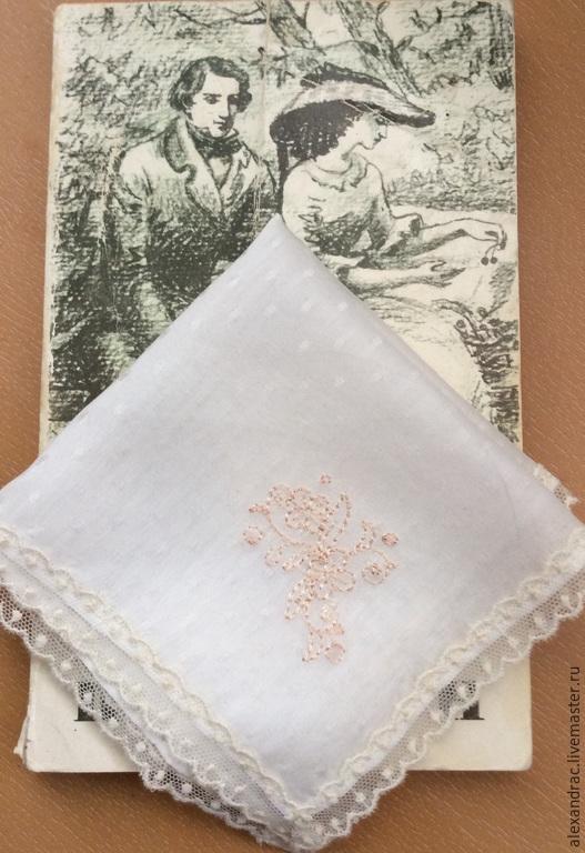 """Носовые платочки ручной работы. Ярмарка Мастеров - ручная работа. Купить Платочек """" Маленькая леди"""". Handmade. Бежевый"""
