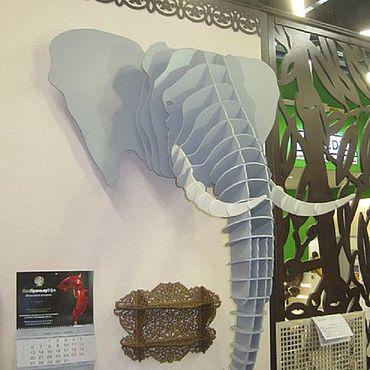Для дома и интерьера ручной работы. Ярмарка Мастеров - ручная работа Голова слона. Handmade.