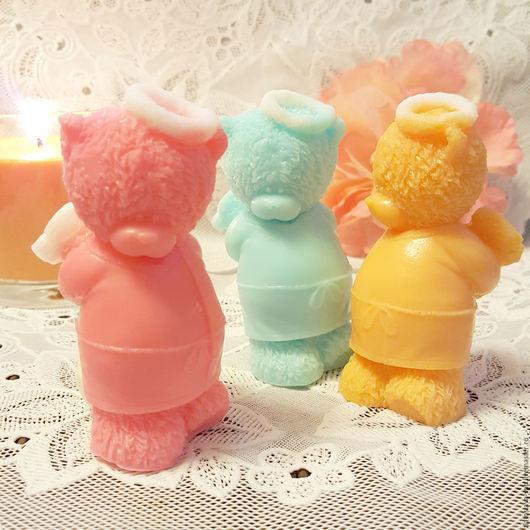 Мыло ручной работы. Ярмарка Мастеров - ручная работа. Купить Тедди-ангел (набор мыла подарочный). Handmade. Комбинированный, тедди
