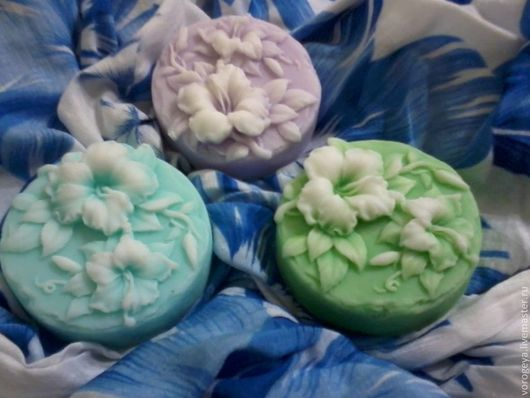 """Мыло ручной работы. Ярмарка Мастеров - ручная работа. Купить Мыло ручной работы """"Лаванда"""". Handmade. Цветочное мыло, лимон"""