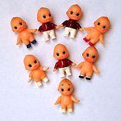 Материалы для творчества ручной работы. Ярмарка Мастеров - ручная работа Кукла миниатюрная кьюпик  3,5 см. Handmade.
