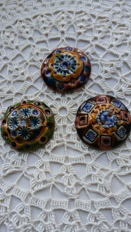 ceramic decorative buttons. Czech Republic, Vintage buttons, St. Petersburg,  Фото №1