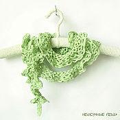 """Аксессуары ручной работы. Ярмарка Мастеров - ручная работа Ажурный шарф """"Зеленое яблоко"""". Handmade."""