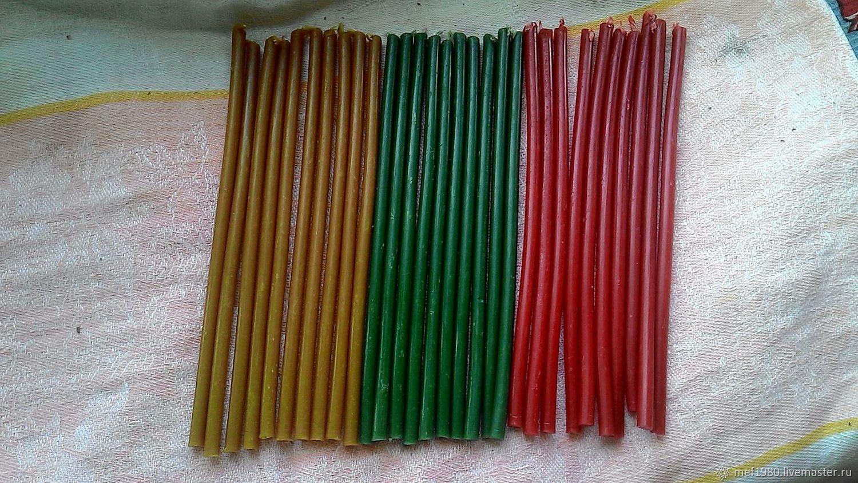 Свечи восковые  цветные часовые – купить на Ярмарке Мастеров – J0IVXRU   Свечи, Нижний Новгород