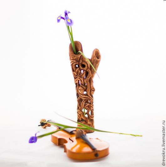 """Вазы ручной работы. Ярмарка Мастеров - ручная работа. Купить Ваза деревянная  """"Полуденный сон фавна"""". Handmade. Коричневый"""