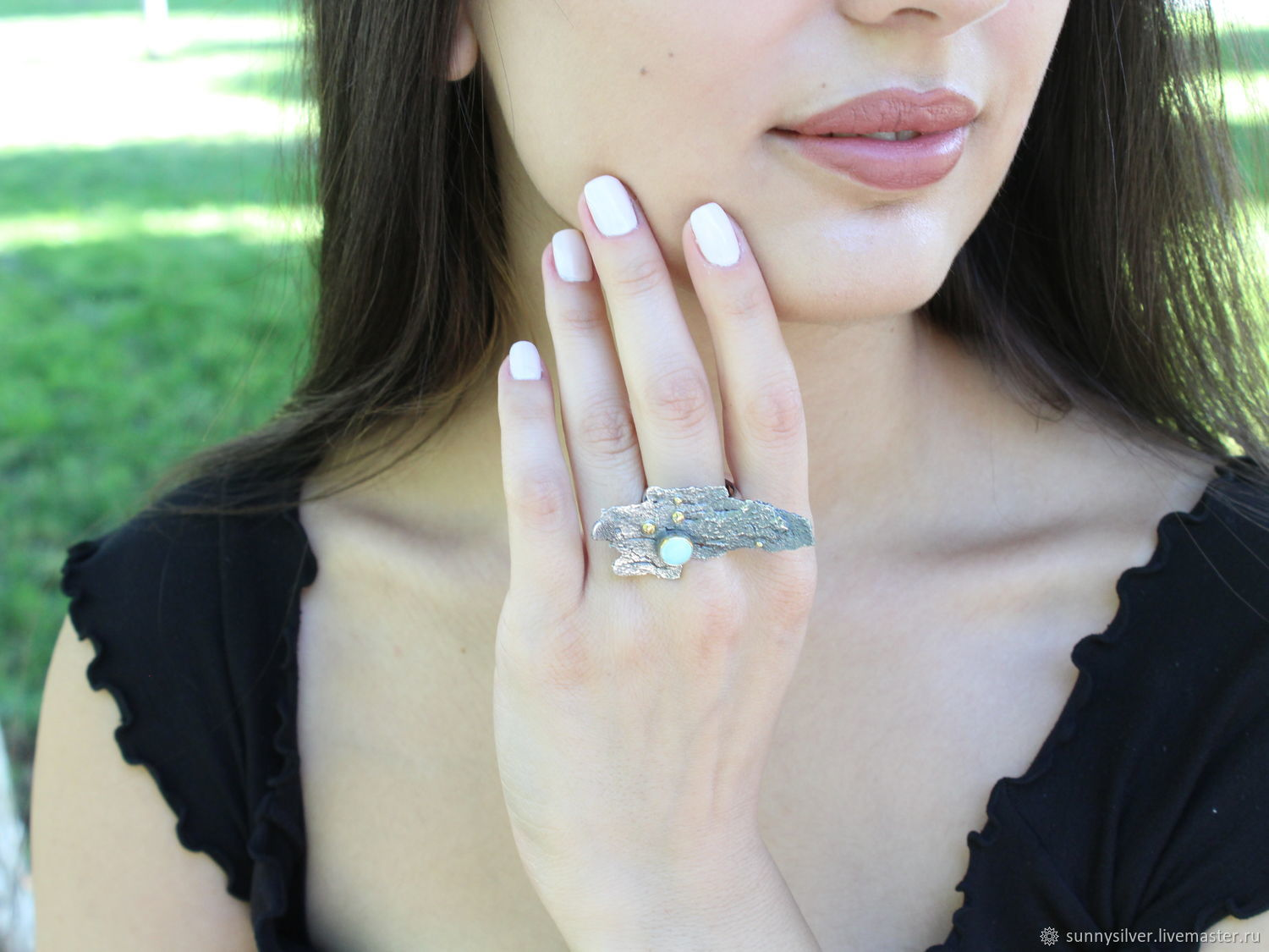 Anamitra ring with turquoise made of 925 sterling silver HM0015, Rings, Yerevan,  Фото №1