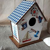 Для дома и интерьера ручной работы. Ярмарка Мастеров - ручная работа Домик у моря. Handmade.