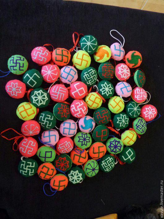 Сувениры ручной работы. Ярмарка Мастеров - ручная работа. Купить Игрушки с обережными символами. Handmade. Комбинированный, голубой цвет