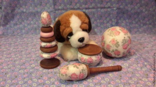 """Развивающие игрушки ручной работы. Ярмарка Мастеров - ручная работа. Купить Набор для новорожденного """"фарфоровая нежность"""".. Handmade. Бледно-розовый"""