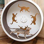 Для домашних животных, ручной работы. Ярмарка Мастеров - ручная работа Беговое колесо для кошек (с 30 см шириной дорожки). Handmade.