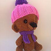 Куклы и игрушки ручной работы. Ярмарка Мастеров - ручная работа Мишка в шапке. Handmade.