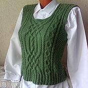 """Одежда handmade. Livemaster - original item Вязаный жилет """"Переплетения"""" ручной работы. Handmade."""