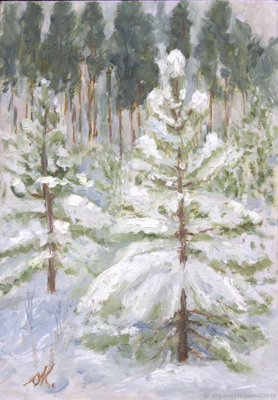 Сосенки в снегу, Картины, Екатеринбург,  Фото №1