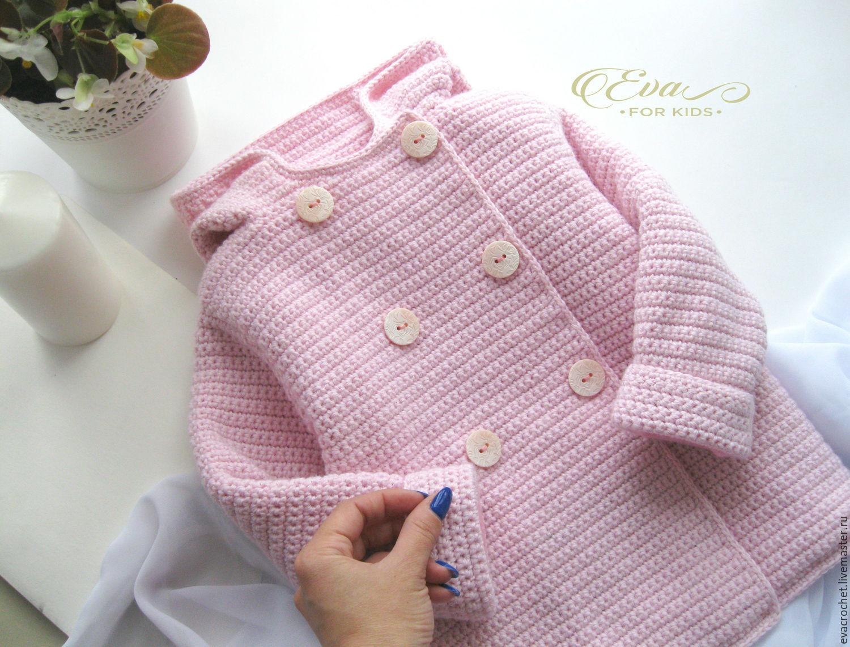 картинки вязаное пальто для девочки