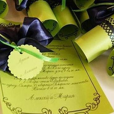 """Свадебный салон ручной работы. Ярмарка Мастеров - ручная работа Приглашения на свадьбу """"Яблоневые ночи"""". Handmade."""