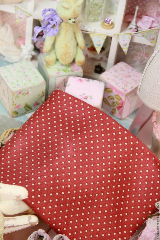 Куклы и игрушки ручной работы. Ярмарка Мастеров - ручная работа. Купить Ткань хлопок №153 с мелким рисунком. Handmade. Комбинированный