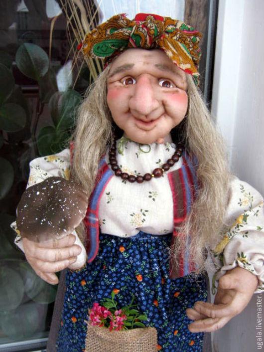 Сказочные персонажи ручной работы. Ярмарка Мастеров - ручная работа. Купить Баба Яга 6. Handmade. Комбинированный, колдунья
